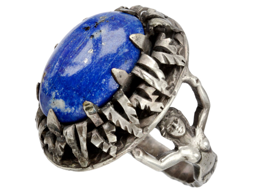 1890s Mermaid Lapis Ring