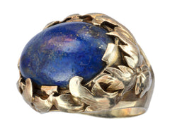 1920s Oval Lapis Ring