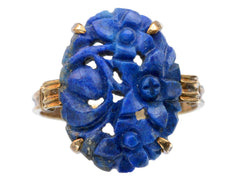 1920s Carved Lapis Ring