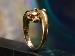 1980s Double Lioness Ring