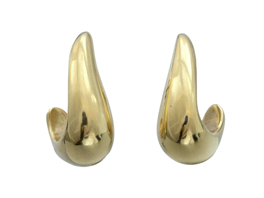 1980s Small Gold Hoops