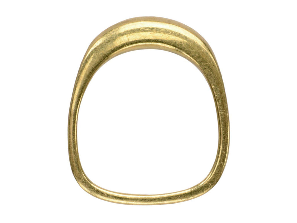 1970s Oblong 18K Gold Ring