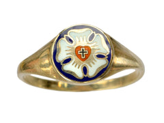 Early 1900s Luther Rose Signet Ring