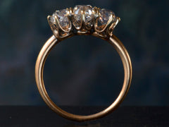 1900s Marcus & Co Three Diamond Engagement Ring
