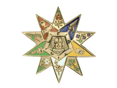 1890s Masonic Enamel Pin