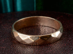 1954 Faceted Wedding Band