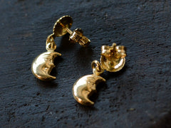 1980s Man in the Moon Earrings