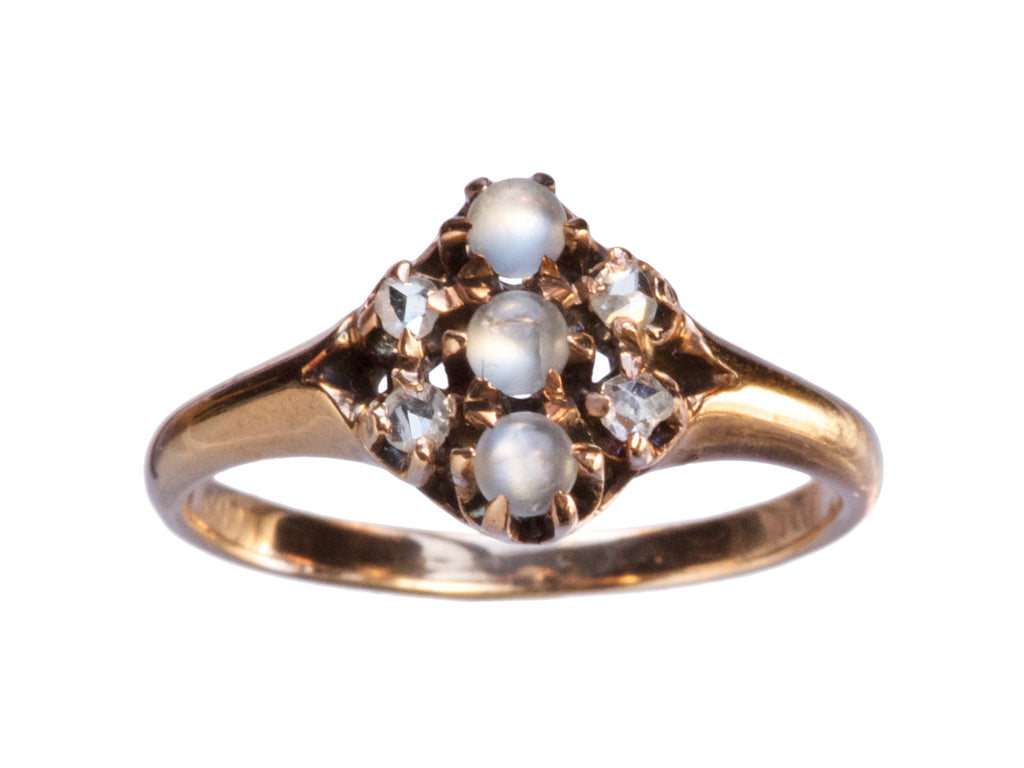 1890s Moonstone & Diamond Ring