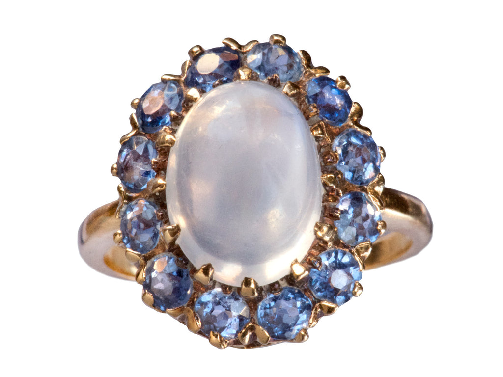 1900s Moonstone and Sapphire Ring