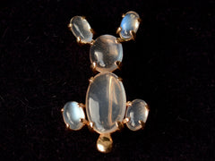 1980s Moonstone Rabbit Pin