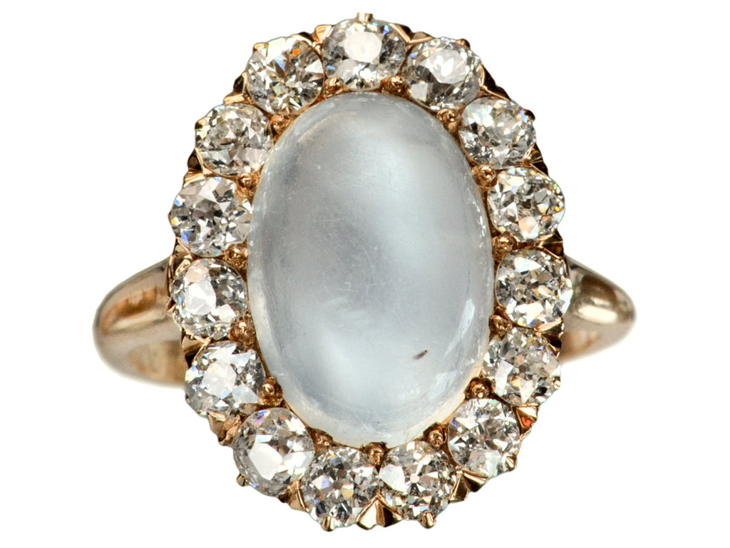 1900s Moonstone & Diamond Ring