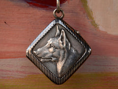 1890s Niello Dog Locket