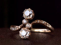 1890s Art Nouveau Two Diamond Ring