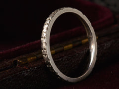 1920s Engraved Platinum Band