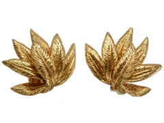 1960s Vintage French 18K Ear Clips by OJ Perrin