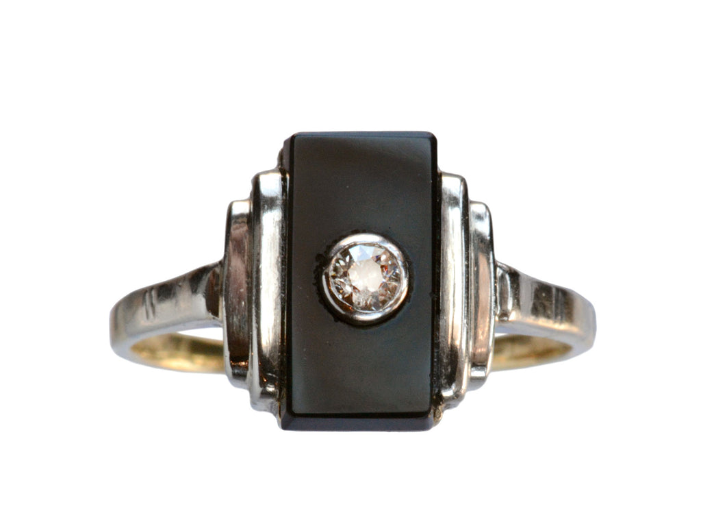 1920s Art Deco Onyx Ring
