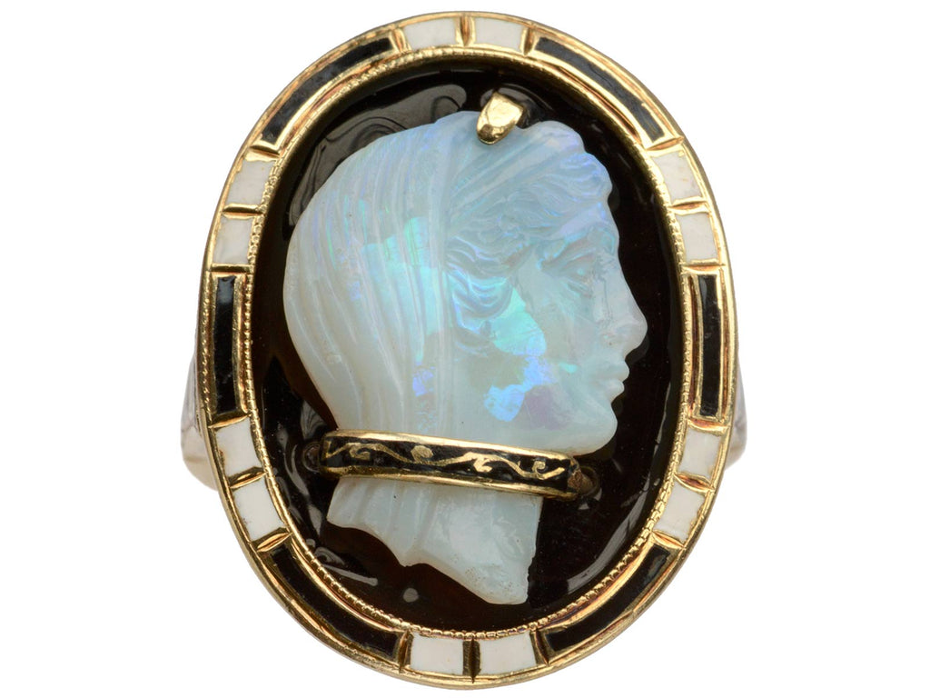 1910s Opal Cameo Ring