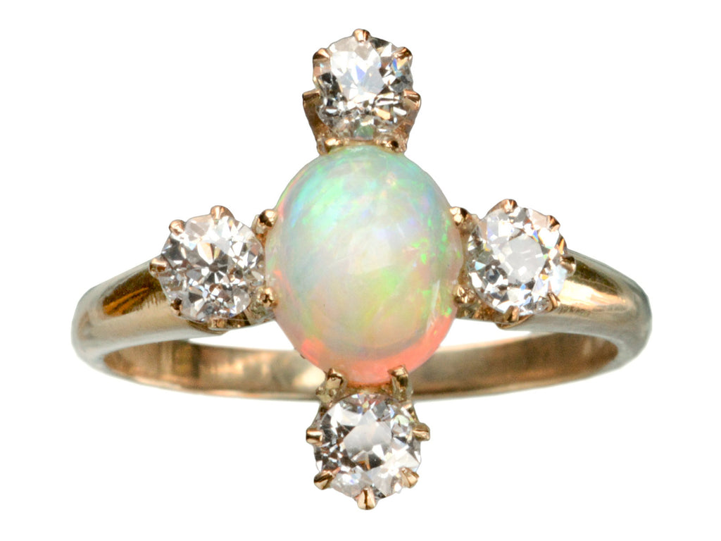 1900s Opal and Diamond Ring