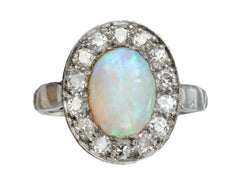 1950s Opal & Diamond Ring