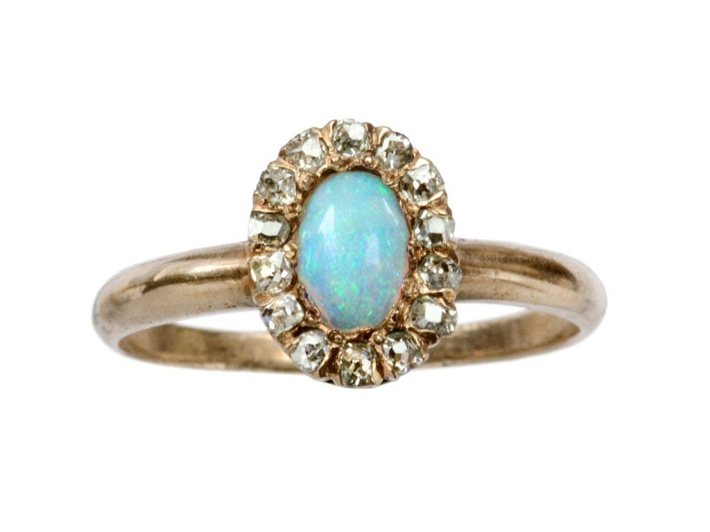 1900s Opal & Diamond Ring