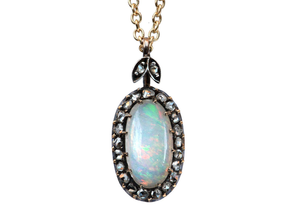 1900s Victorian Opal & Diamond Necklace