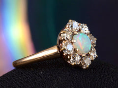 1900s Opal & Diamond Cluster Ring