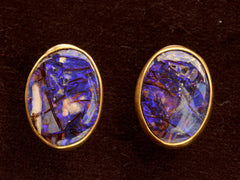 Purple Boulder Opal Earrings