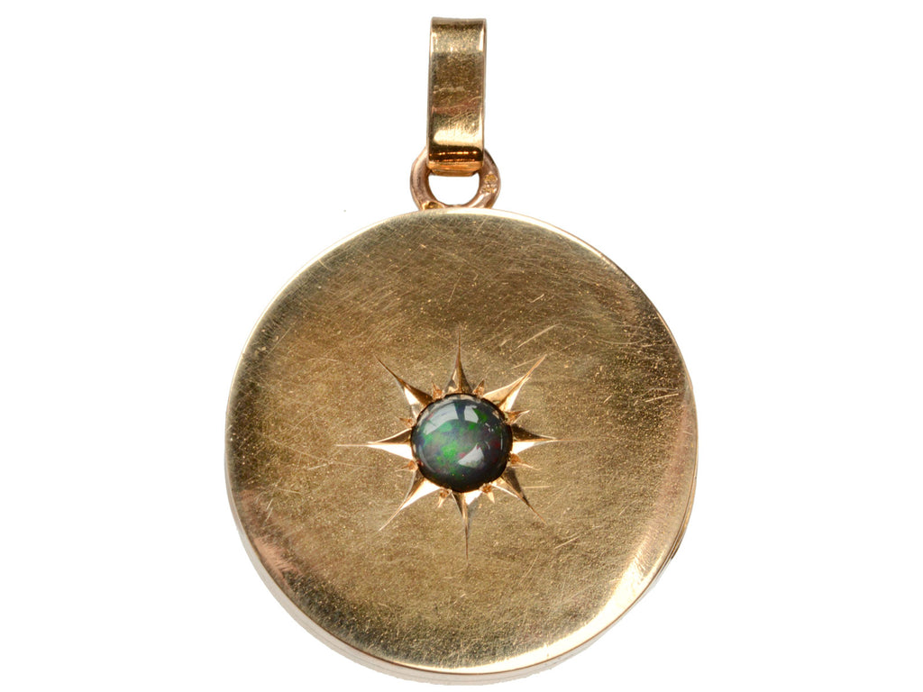 1890s Black Opal Locket
