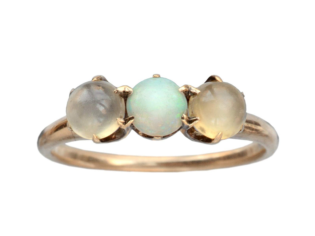 1900s Opal & Moonstone Ring