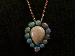 1890s Victorian Opal Necklace
