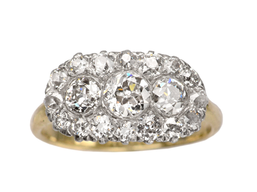 1900s Oval Diamond Cluster Ring