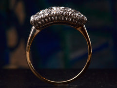 1930s Oval Diamond Cluster Ring