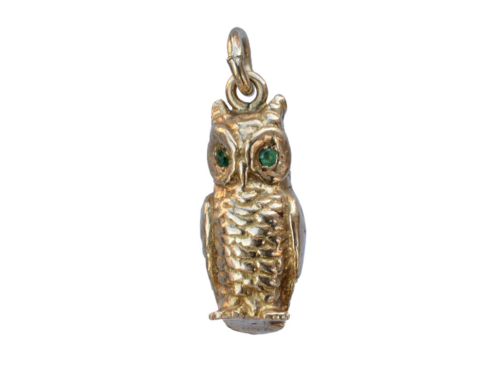 1950s Gold Owl Charm