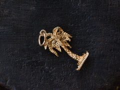 c1980 Gold Palm Tree Charm