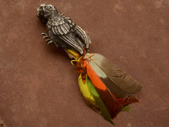 1920s Feathered Parrot Clip