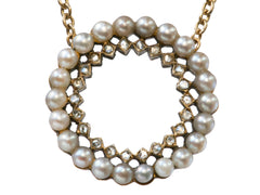 1900s Diamonds & Pearls Necklace