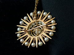 1950s Pearl Sunburst Necklace