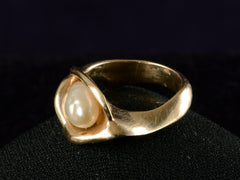 1970s Biomorphic Pearl Ring