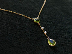 1900s Peridot Pendant Necklace