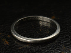 1933 Plain Platinum Wedding Band