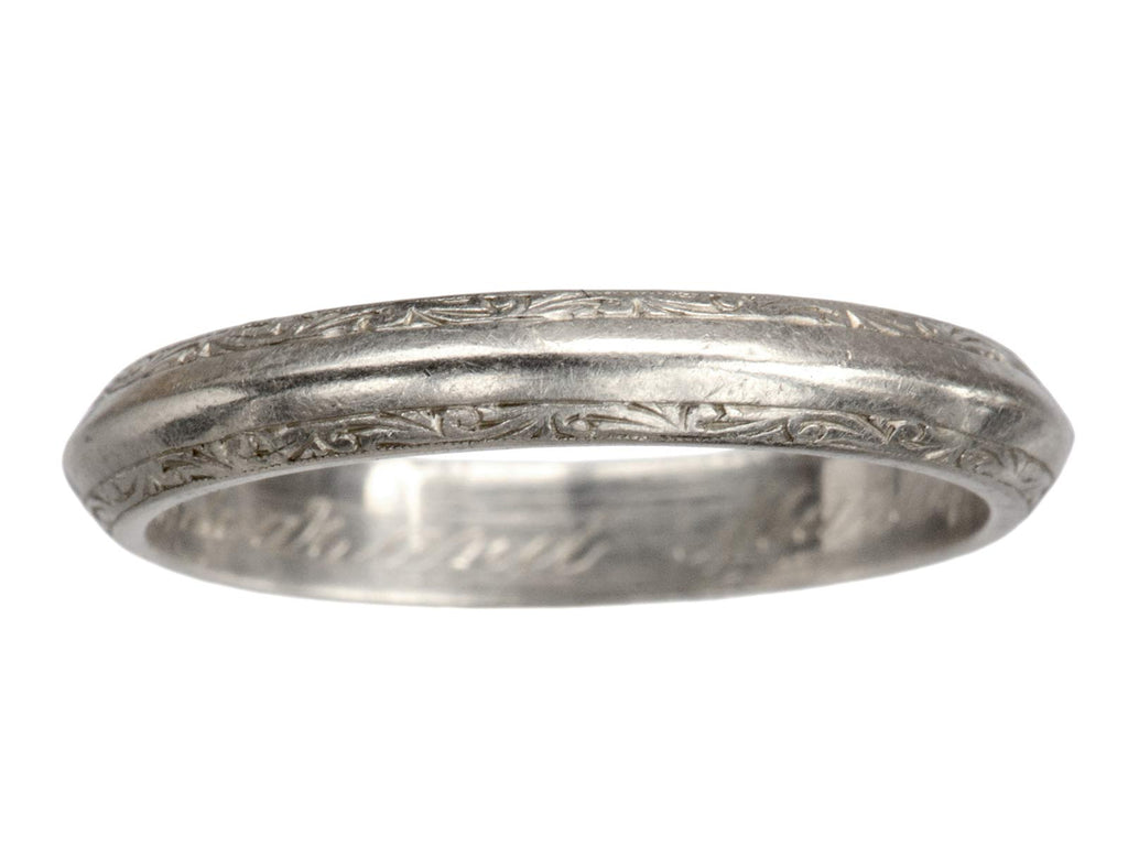 1920s Men's Platinum Band