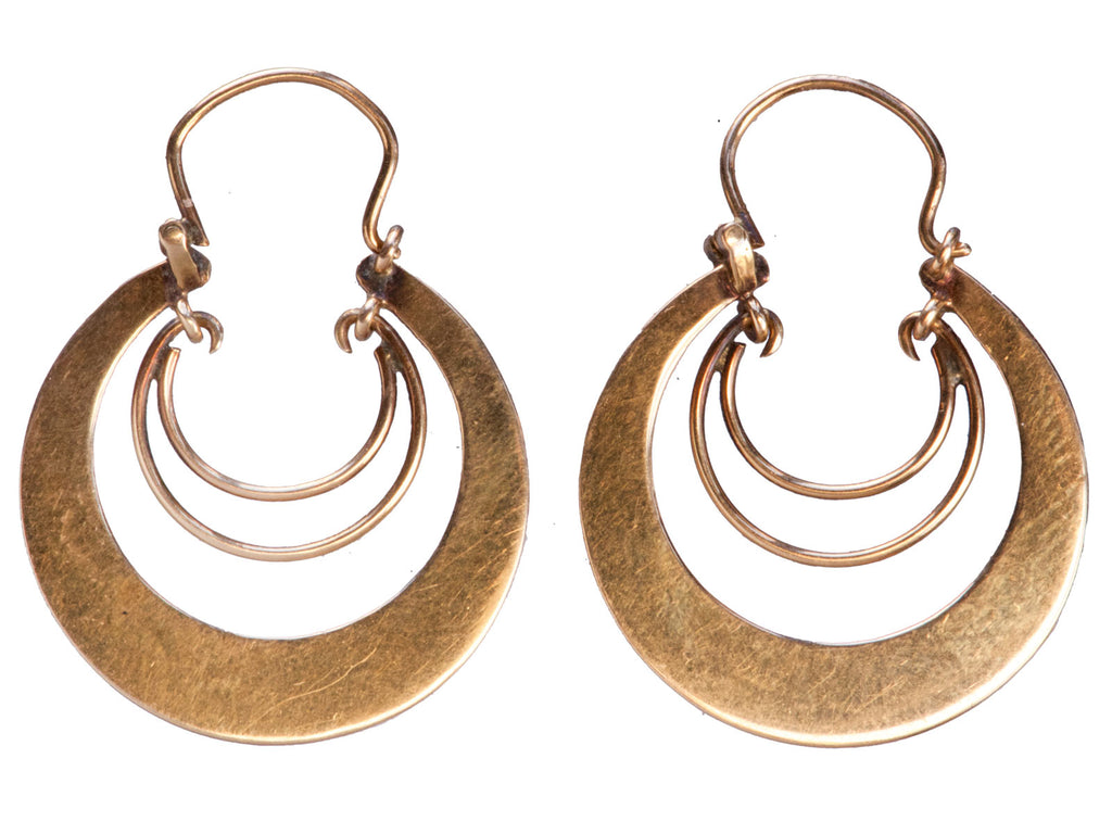 1920s Rose Gold Hoop Earrings
