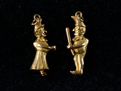 Early 1900s Punch & Judy Charms
