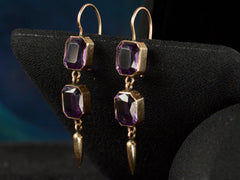 1880s Purple Paste Earrings