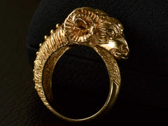 Vintage Ram's Head Ring