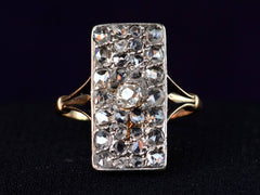 1900s Rectangular Diamond Cluster Ring