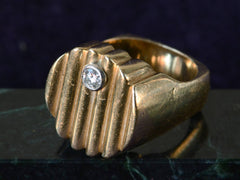 1960s Reeded Diamond Singet Ring