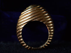 1960s Asymmetrical Reeded Ring