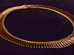 1940s Retro 18K Gold Collar Necklace