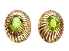 c1950 Retro Peridot Earrings